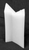 S12 Doppel Dreikant Kerze (Rohlinge)