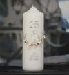 """Jubiläums Kerze """"25 Jahre Hochzeit"""""""