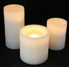 LED Windlicht Kerzen Rustic weiss
