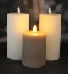 LED Rustic Stumpenkerzen